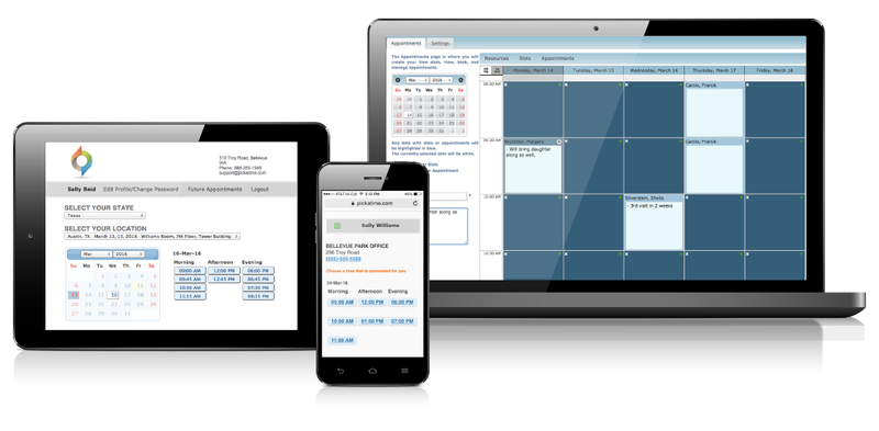 pickAtime scheduling software